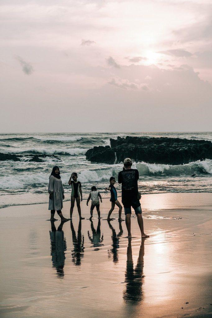 family, beach, bali